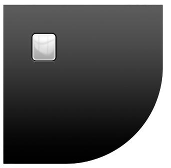 Riho Basel Black 451 íves 90x90 matt fekete akril zuhanytálca DC98170