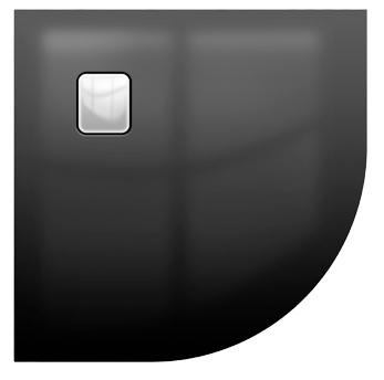 Riho Basel Black 451 íves 90x90 fényes fekete akril zuhanytálca DC98160