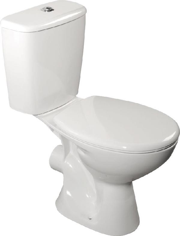 AQUALINE JUAN monoblokkos WC, hátsó kifolyású, króm duál gombos öblítőmechanika (LC2154)