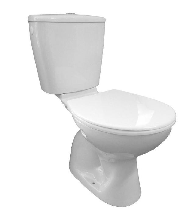 AQUALINE JUAN monoblokkos WC, alsó kifolyású, króm duál gombos öblítőmechanika (LC2258)