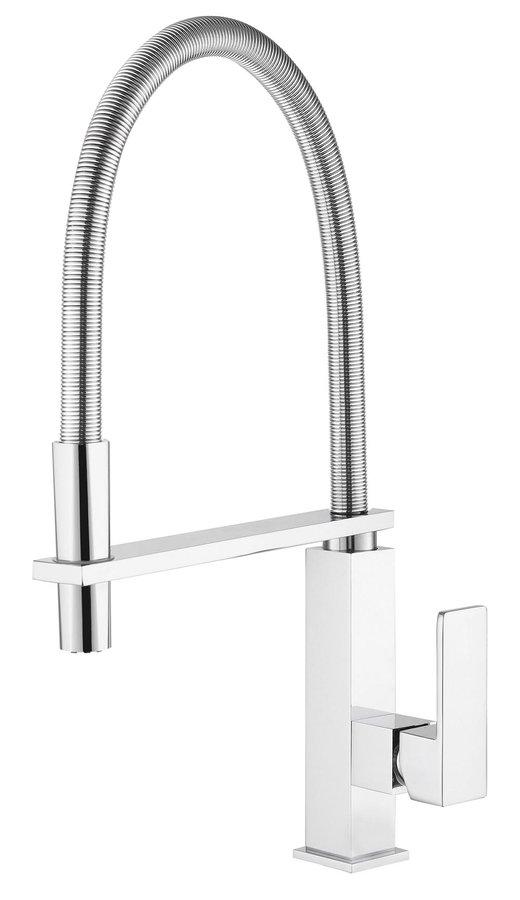 Sapho MAYA Mosogató-csaptelep kihúzható zuhanyfejjel, króm (MA780)