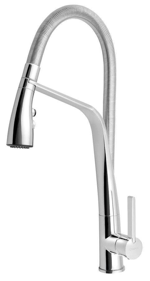 Sapho ARLA Mosogató-csaptelep kihúzható zuhanyfejjel, króm AR430