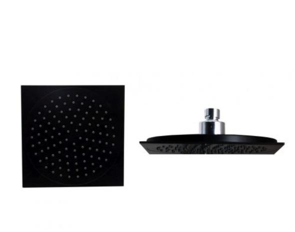 Sanotechnik Esőztető fejzuhany AB100 zuhanyszetthez, szögletes, fekete