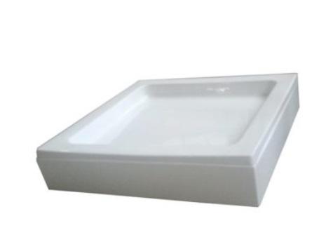 Sanotechnik BORA szögletes akril zuhanytálca 80 cm GS80