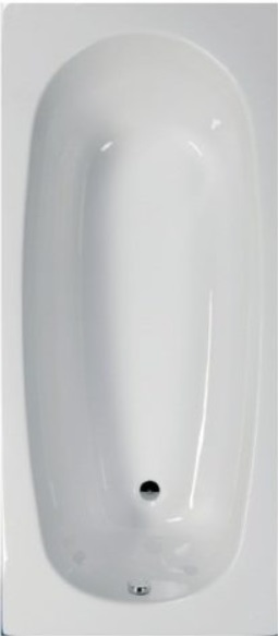 Sanotechnik LINEA 150 testformájú fürdőkád