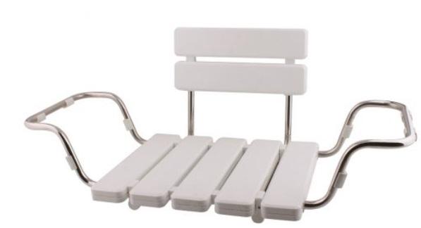 Sanotechnik Háttámlás fürdőkád ülőke, fehér