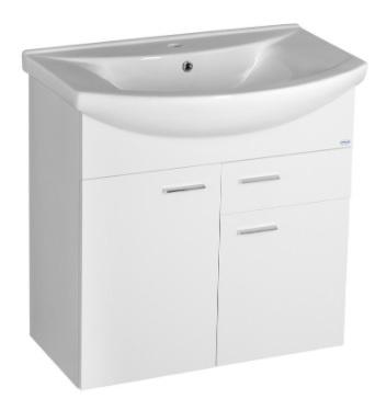 Sapho AQUALINE ZOJA mosdótartó szekrény, 2 ajtó, 1 fiók 71,5x74x34cm, fehér (51075A)