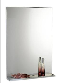 Sapho AQUALINE BETA tükör polccal, 50x70x12cm, fehér (57396)
