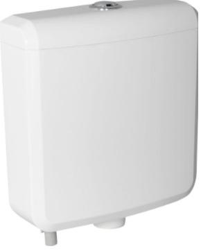 """Sapho AQUALINE WC tartály duál gombos öblítőmechanikával, összekötő csövekkel, alsó bekötéssel, 1/2"""", ABS (T1801)"""