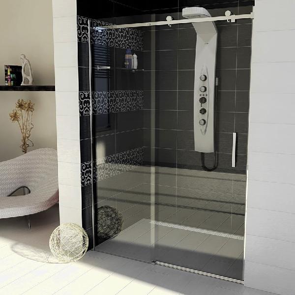 Sapho GELCO DRAGON toló ajtó+fix 140cm átlátszó üveg (GD4614)